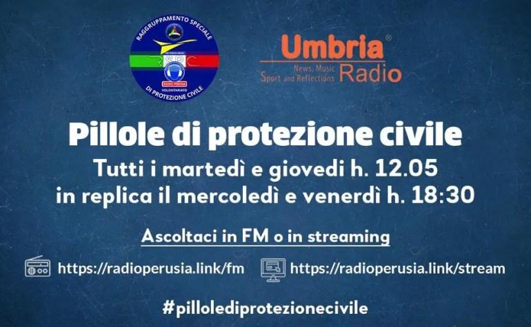 Pillole di protezione civile, intervista con Radio Perusia su Umbria Radio