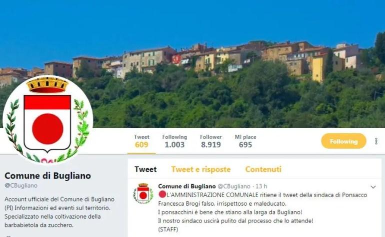 Bugliano, il comune che amministra l'ironia su Twitter
