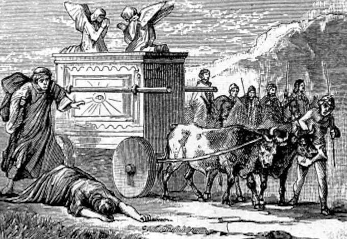 Image result for the ark of the covenant ON THE CARRIAGE
