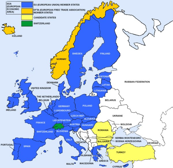 Map of European countries that require the CE Mark CE Marking