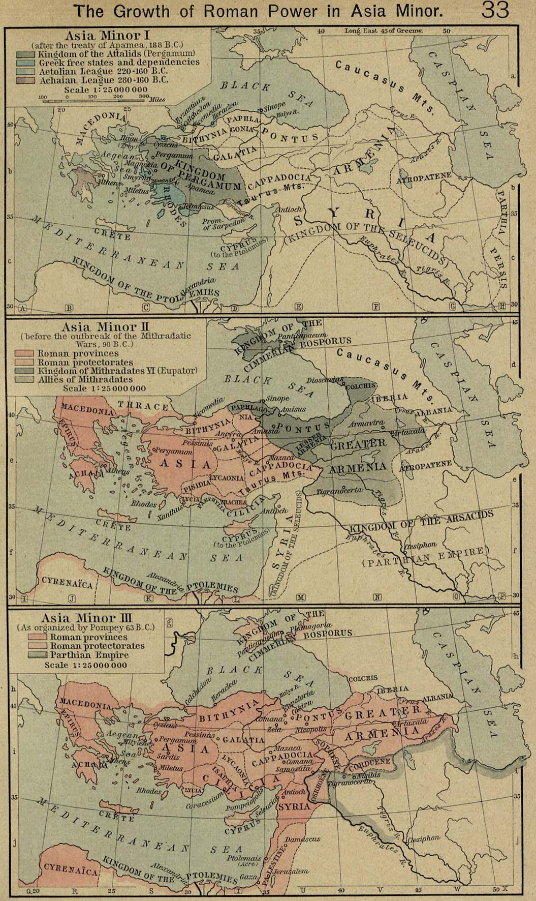 Map Of Asia Minor 188 Bc