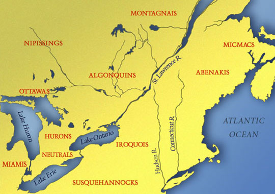 Native Americans Map List Tribes and Peoples in History