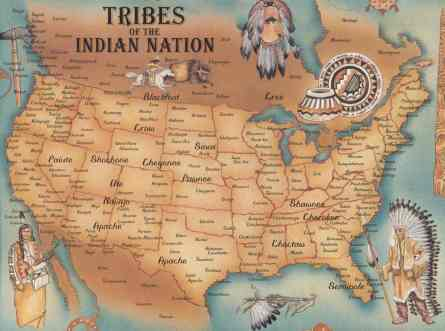 Image result for native american map
