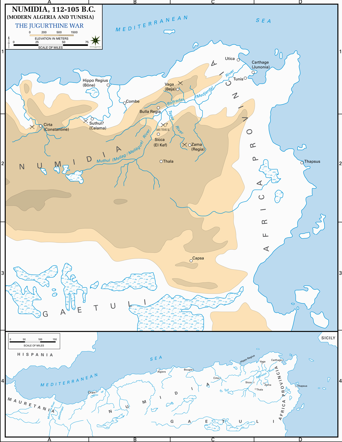 Algeria Civilization Map