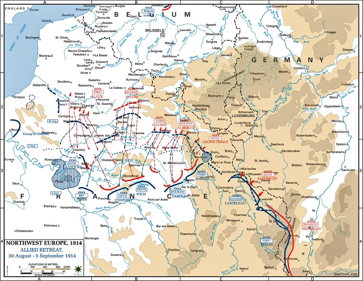 World War 1 Map Of Alliances