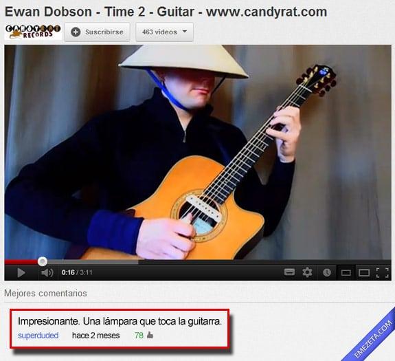 Los mejores comentarios de youtube: Lampara guitarra