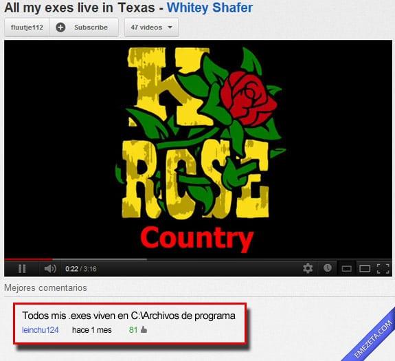 Los mejores comentarios de youtube: Mys exes live in