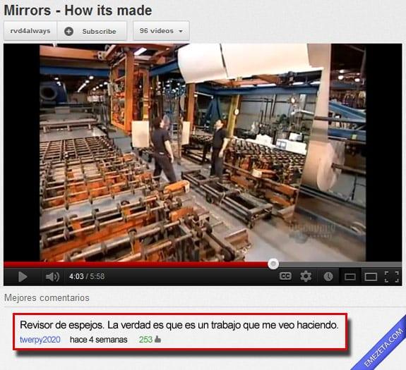 Los mejores comentarios de youtube: Revisor de espejos