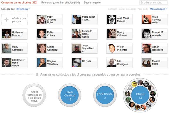 Google Plus (Google+): Círculos de amigos de Google+.