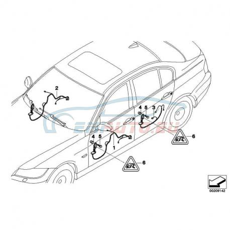 Genuine BMW Wiring set, door, co-driver (61129186576
