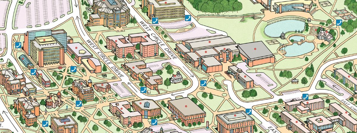 Map Eastern Campus Printable University Michigan