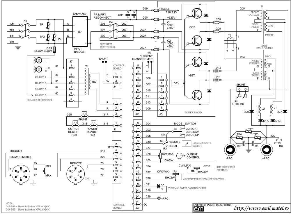 medium resolution of wiring diagram welding inverter lincoln invertec v250 s code 10188