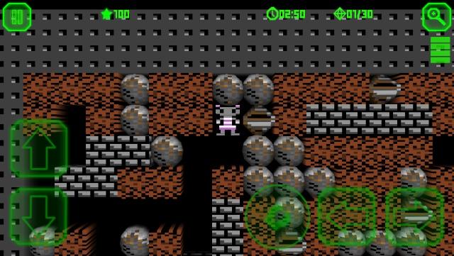 Captura del juego en modo retro