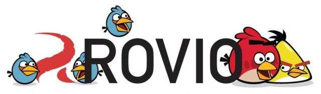 Logotipo de Rovio rodeado de algunos de sus Angry Birds