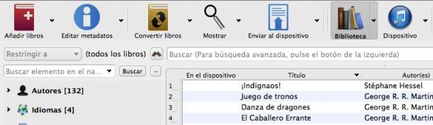 Calibre conectado a iTunes