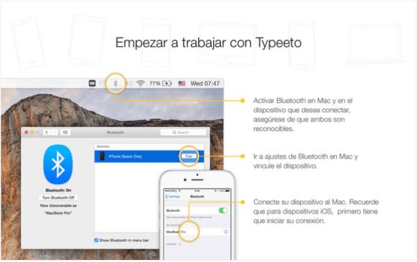 Presentación de Typeeto en la Mac App Store