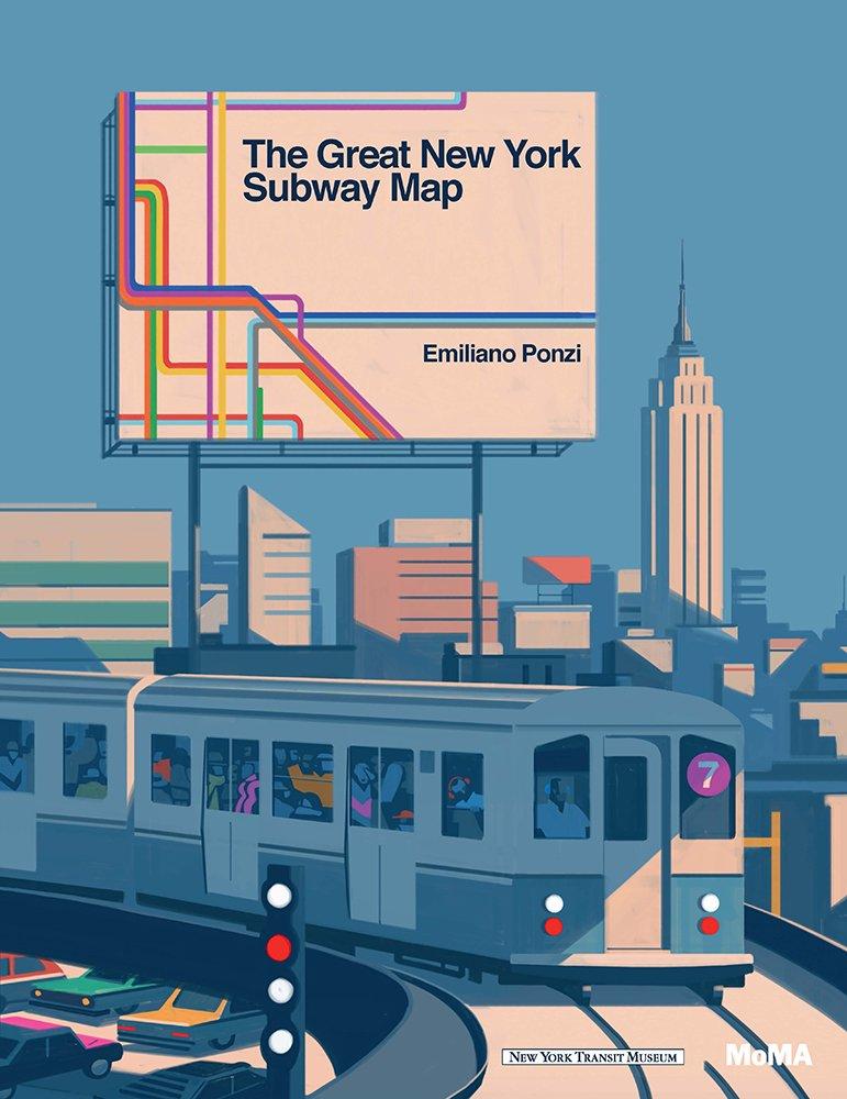 the great new york subway map emiliano ponzi