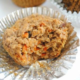 Carrot Cake Oat Muffins (vegan & gluten-free)