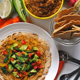 Chipotle Hummus with Oat Flour Tortillas (& chips!)