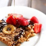 Healthy Chocolate Peanut Butter Banana Baked Oatmeal