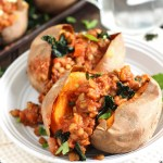 Barbecue Lentil Stuffed Sweet Potatoes