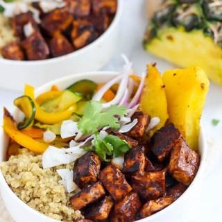 Hawaiian BBQ Tofu Bowls (on Fit Mitten Kitchen!)