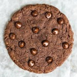 Huge Chocolate Protein Cookie for One (vegan + gluten-free)
