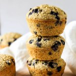 Blueberry Cornbread Muffins (vegan & gluten-free)