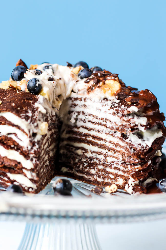 This Chocolate Crepe Cake Is Sure To Stand Out At Any Party Made With Wholesome