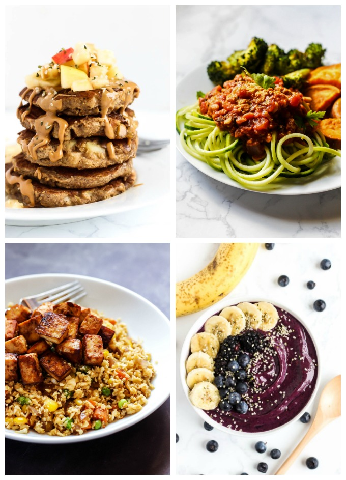 """Looking for healthy, budget-friendly meals? """"Vegan on a Budget"""" contains 20+ vegan meals, snacks & desserts for $3 or less per serving. It also includes money-saving tips, a two-week meal plan and grocery lists!"""