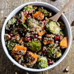 Fall Brussels Sprouts Quinoa Salad