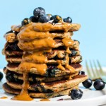 Blueberry Vegan Protein Pancakes (gluten-free)