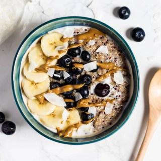 Breakfast Quinoa Bowl (vegan & gluten-free)