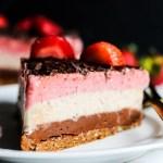 Neapolitan Banana Ice Cream Cake (vegan & gluten-free)