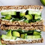 Cool Cucumber Avocado Sandwich with Tofu Cream Cheese