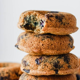 Baked Vegan Blueberry Donuts