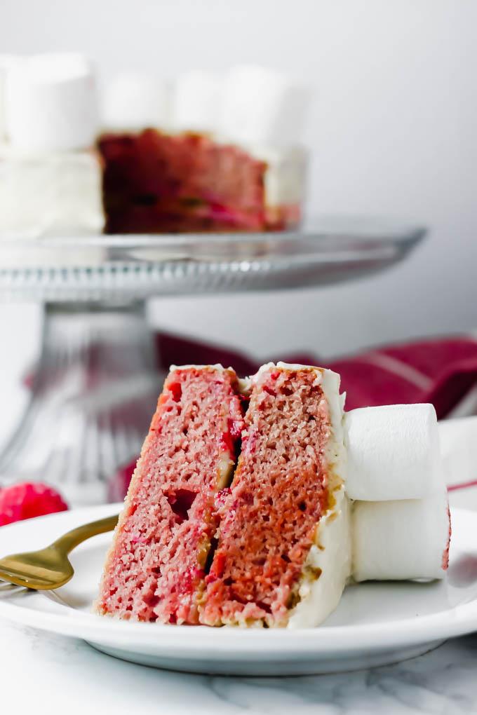 Vegan Vanilla Strawberry Cake Marshmallow Lamb Emilie