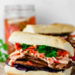 Vegan Banh Mi with Seitan & Pickled Vegetables
