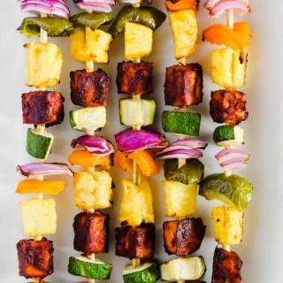BBQ Tofu Vegetable Kebabs