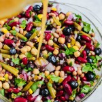 Blueberry Five Bean Salad (vegan & gluten-free)