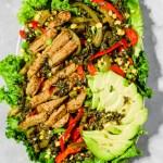 Vegan Chicken Fajita Salad