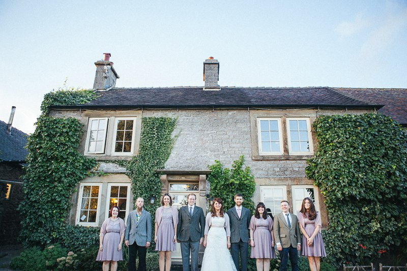 Bridal party photos at the cottage Ashbourne