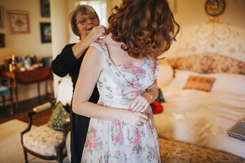 Bridal preparations for a vintage Walcot Hall Wedding.
