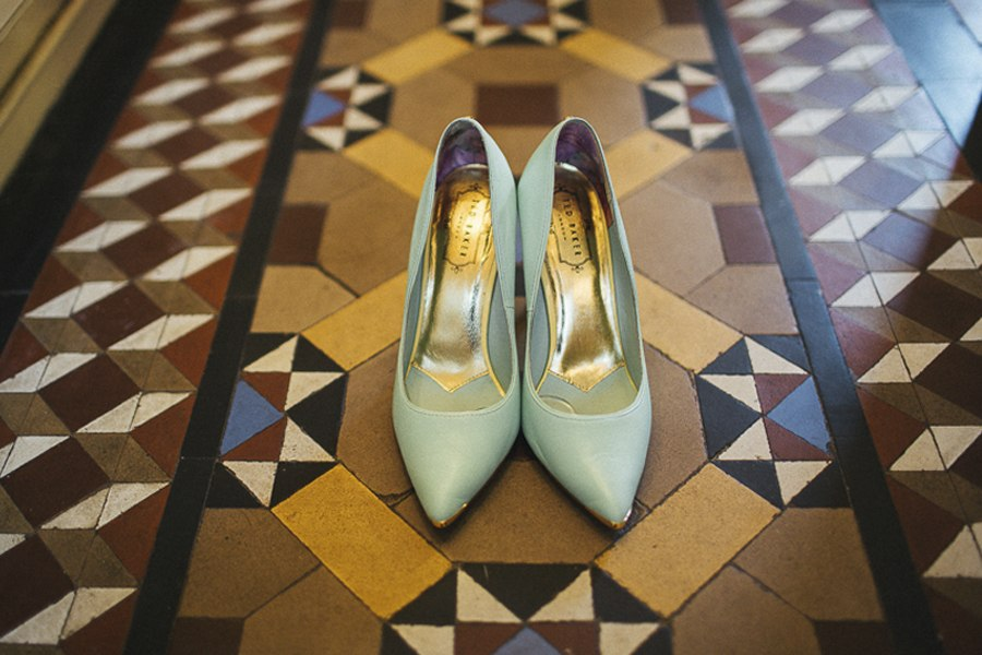 Mint wedding shoes