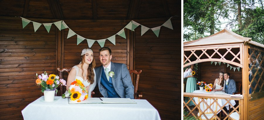 Villa farm wedding Yorkshire
