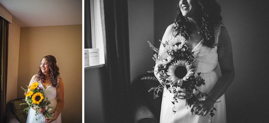 Sunflower wedding bouquet Lancashire