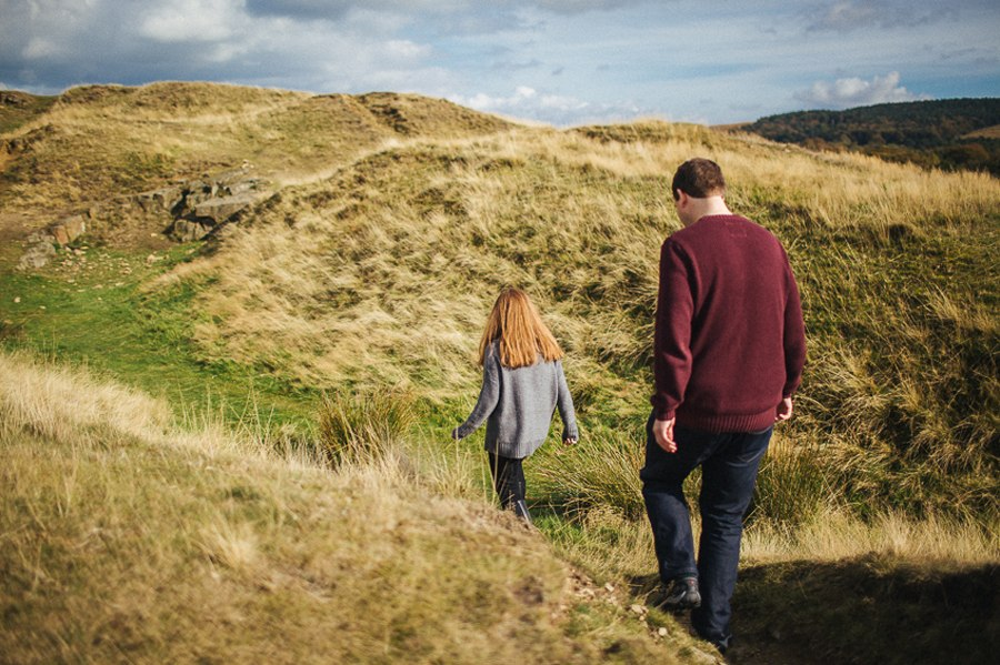 Relaxed Lyme Park Engagement shoot