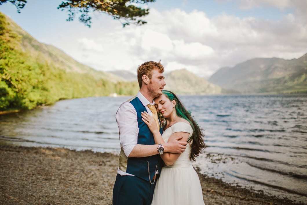 Lake District wedding portrait