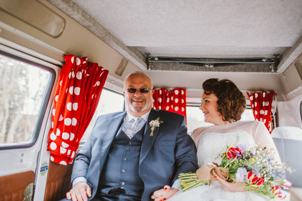 VW Camper wedding car