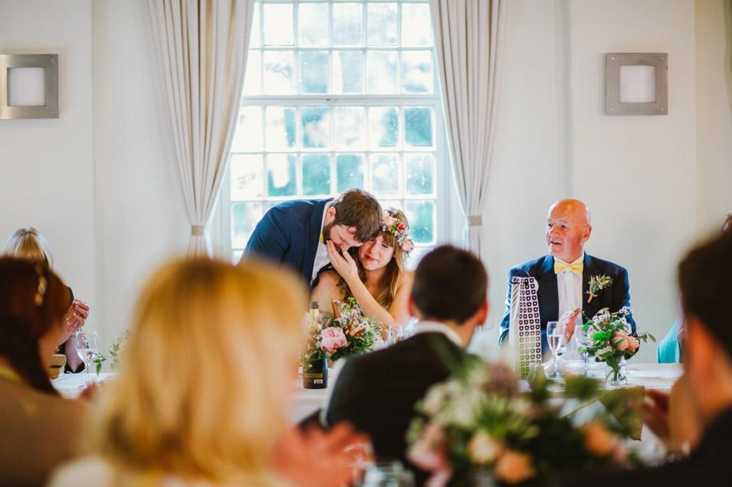 Emotional wedding speeches